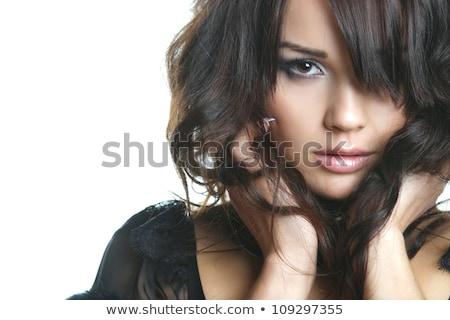 Blonde smiling fashion model, high-key image Stock photo © Geribody