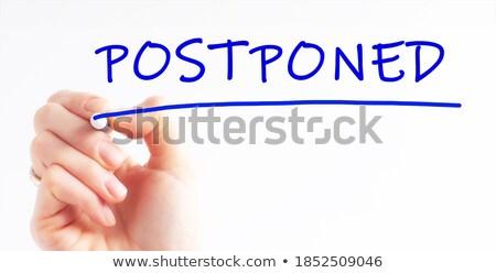çaba mavi işaretleyici el yazı şeffaf Stok fotoğraf © ivelin