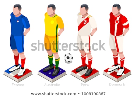 Soccer ball with Russia flag on pitch Stock photo © stevanovicigor