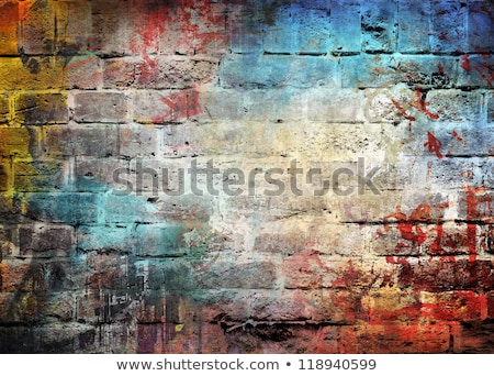 red scratched wall with frames Stock photo © taviphoto