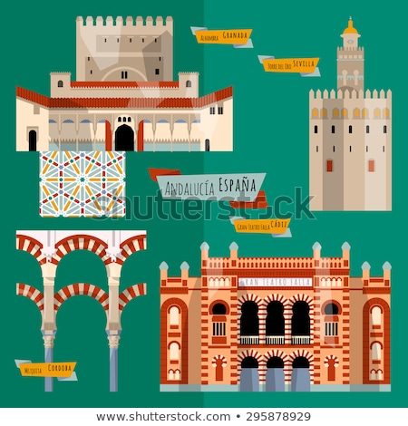 Alhambra Cityscape kiliseler İspanya binalar kültür Stok fotoğraf © billperry