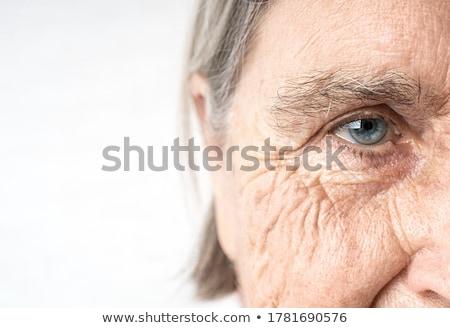 Stockfoto: Ouderdom · senior · handen · zwarte · hand · medische