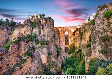Bridge in the old city of Ronda,  Spain stock photo © serpla