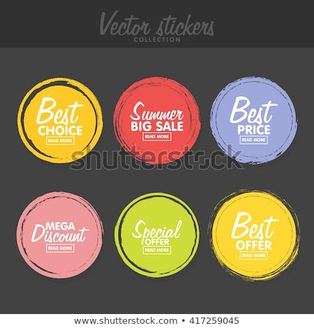 Reklam Retro etiket dizayn renk Stok fotoğraf © tashatuvango