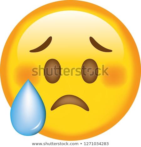 Ifade üzücü sarı beyaz siyah grafik Stok fotoğraf © mariephoto