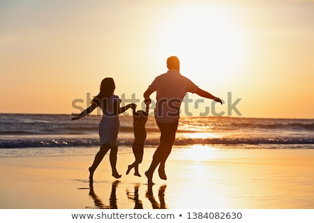 Promenade plage océan vue palmier ciel Photo stock © vrvalerian