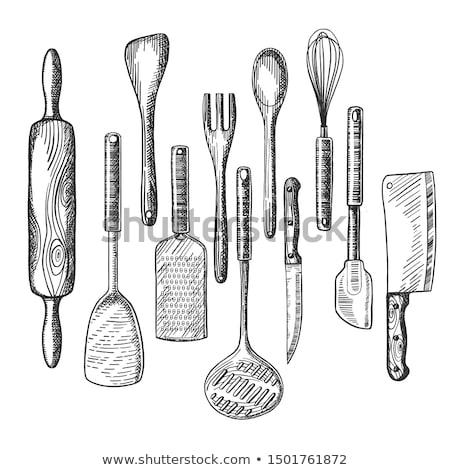 классический · скалка · подготовленный · кухне - Сток-фото © zerbor