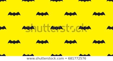seamless pattern of bats and pumpkins stock photo © elenapro