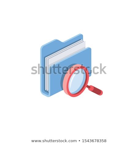 folder search 3d icon Stock photo © koya79