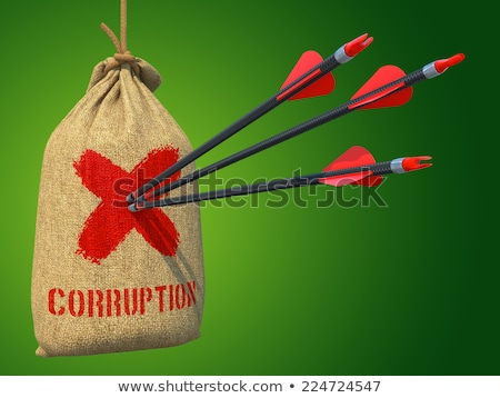 Corruption - Arrows Hit in Red Mark Target. Stock photo © tashatuvango