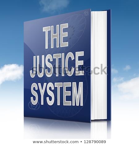 Legislación título azul libro negro estante para libros Foto stock © tashatuvango