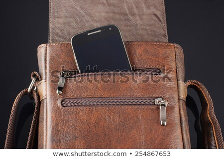 okostelefon · bent · zseb · kapcsolat · valaki · divat - stock fotó © hin255