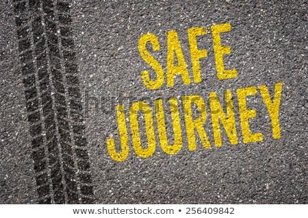 Photo stock: Texte · sûr · voyage · voiture · fond