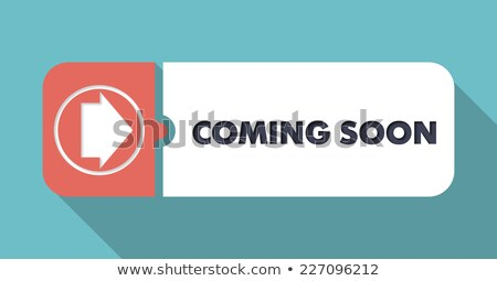 Coming Soon on Scarlet in Flat Design. Stock photo © tashatuvango