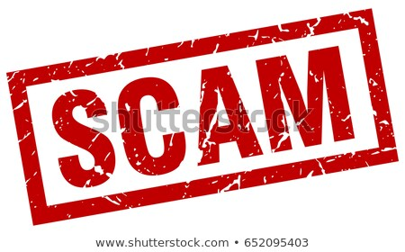 red stamp   scam stock photo © zerbor