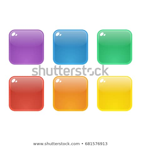 play blue square glossy web icon on white background Stock photo © jarin13