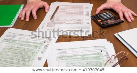 Frustration of Filling Out Tax Forms Stock photo © rcarner