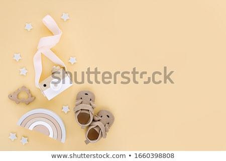 Сток-фото: ребенка · игрушку · белый · мягкой · изолированный · собственности