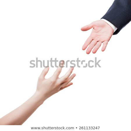 Businessman giving helping hand to poor begging needy person Stock photo © ia_64