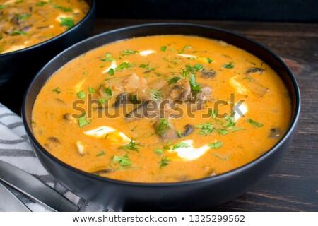 húngaro · setas · sopa · caliente · olla · cena - foto stock © fanfo
