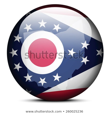 map on flag button of usa ohio state stock photo © istanbul2009