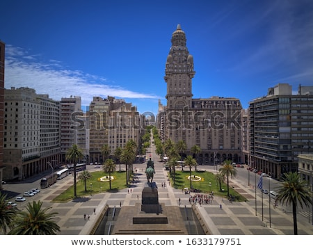 Modern Architecture on the Plaza Independencia in Montevideo   Stock photo © Spectral