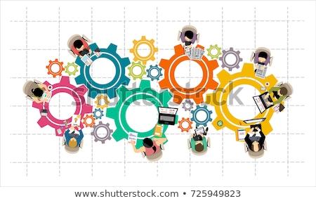 Symbole vecteur affaires mains réunion Photo stock © vgarts