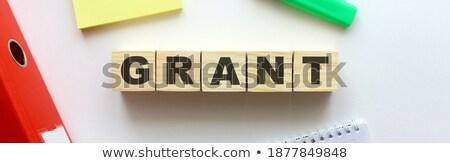 Pago palavra dobrador cartão foco pesquisar Foto stock © tashatuvango