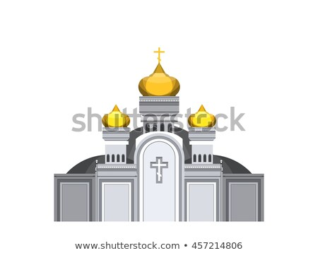 Orthodox church with gold domes  Stock photo © OleksandrO