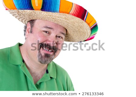 Welcoming Man in Mexican Sombrero with Copy Space Stock photo © ozgur