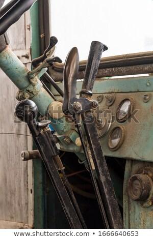 maquinaria · engrenagem · alavanca · controlar · preto - foto stock © tashatuvango