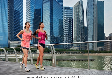 singapore jogging people stock photo © joyr