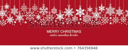 Vermelho floco de neve padrão projeto digitalmente gerado Foto stock © wavebreak_media