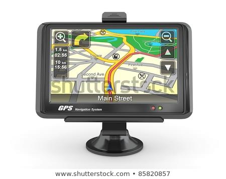 Coche GPS navegación dispositivo aislado blanco Foto stock © stevanovicigor