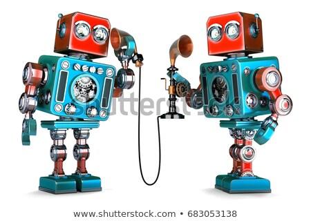 robot · inteligentes · 3d · carácter · ordenador - foto stock © kirill_m