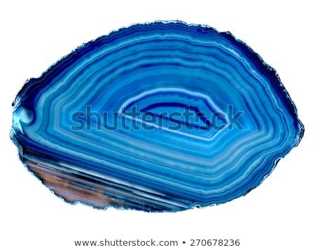 Mavi akik yalıtılmış dilim beyaz doku Stok fotoğraf © jonnysek