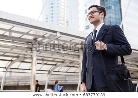 Asian Businessman get the idea Stock photo © RAStudio