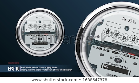 Retro measuring instrument of electric energy stock photo © vavlt