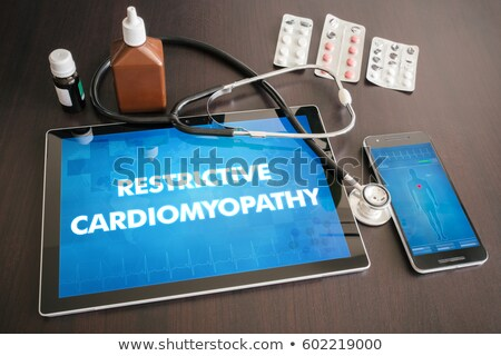 cardiomyopathy on the display of medical tablet stock photo © tashatuvango
