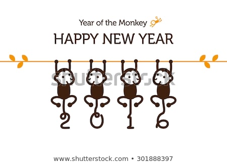 vector simple happy new year card 2016 stock photo © orson
