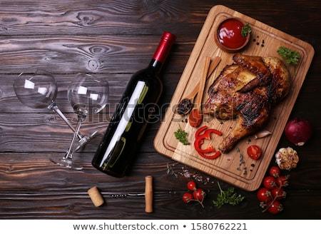 Tyúk üveg recept szovjet konyha fotó Stock fotó © tatiana3337