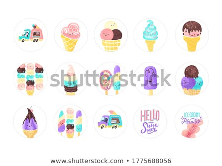 collection of easter theme stickers stock photo © kariiika