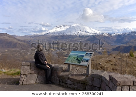 mt st helens panoramic view with dramatic skies stock photo © rigucci
