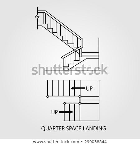 Topo ver trimestre espaço aterrissagem Foto stock © shawlinmohd