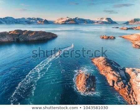 Сток-фото: антенна · Панорама · Норвегия · путешествия
