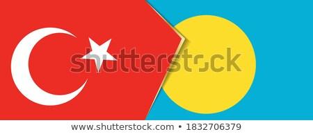 Turkey and Palau Flags Stock photo © Istanbul2009