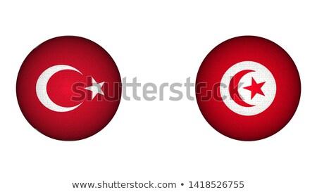 Turquia Tunísia bandeiras quebra-cabeça isolado branco Foto stock © Istanbul2009