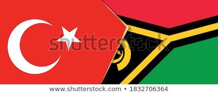 Törökország Vanuatu zászlók puzzle izolált fehér Stock fotó © Istanbul2009