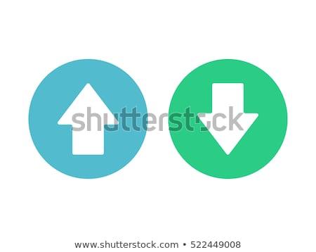 up down arrow blue vector icon design stock photo © rizwanali3d