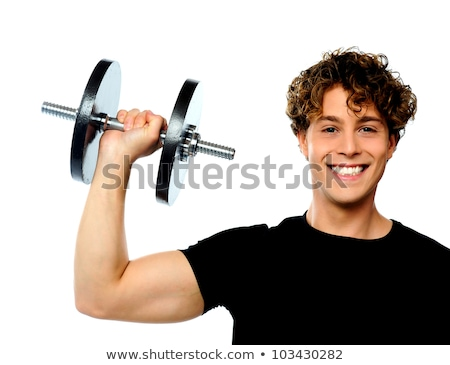 Cool attractive man lifting weights Stock photo © stokkete